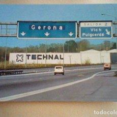 Postales: DEPOSITO TECHNAL BARCELONA SEÑALES TRAFICO AUTOVIA SALIDA VICH PUIGCERDA. Lote 84976892