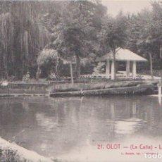 Postales: OLOT (GERONA) - LA CAÑA (LES MULLERES) - L. ROISIN FOT. BARCELONA. Lote 85233236