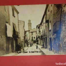 Postales: CALAF. CALLE SAN JAIME. POSTAL FOTOGRÁFICA. Lote 85401616