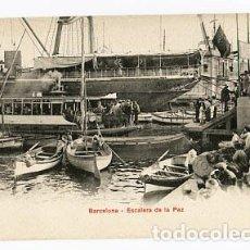 Postales: BARCELONA ESCALERA DE LA PAZ. P.Z. 10686 REVERSO SIN DIVIDIR. SIN CIRCULAR. Lote 86041568