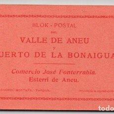 Postales: BLOK-POSTAL DEL VALLE DE ANEU Y PUERTO DE LA BONAIGUA - 20 POSTALES. Lote 86139940