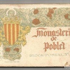 Postales: MONASTERIO POBLET .- BLOCK POSTAL 20 VISTAS Nº 5 .- FOTOTIPIA THOMAS . Lote 86180948