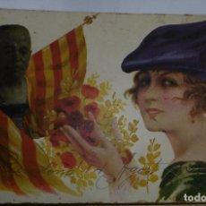 Postales: GLORIAS CATALANAS (ENRIC PRAT DE LA RIBA) ED. REGLAMGRAF ANDREU MIR. Lote 86203304