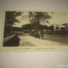 Postales: MASSANET DE CABRENYS 18 . CARRETERA DE ENTRADA A LA POBLACIÓ. SIN CIRCULAR. Lote 86298852