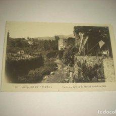 Postales: MASSANET DE CABRENYS 20 . PONT SOBRE LA RIERA DE FRAUSA I ARRABAL DEL GRIE, SIN CIRCULAR. Lote 86299136