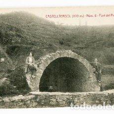 Postales: BARCELONA CASTELLTERSOL FONT DEL PRAT DEL POU ED. CALVÓ-FRUITÓS. SIN CIRCULAR. Lote 86859360