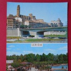 Postales: ANTIGUA POSTAL - LERIDA ( LLEIDA ) - VISTA PARCIAL Y PISCINAS... R - 6132. Lote 87202792