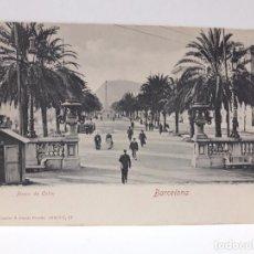 Postales: POSTAL ANTIGUA . BARCELONA . PASEO DE COLON. Lote 87337884