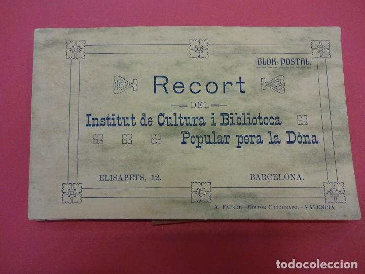 BLOCK 12 POSTALES RECORT INSTITUT DE CULTURA I BIBLIOTECA POPULAR PER A LA DONA. BARCELONA. FALTA 1 (Postales - España - Cataluña Antigua (hasta 1939))
