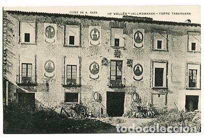 BARCELONA VALLÉS VALLROMANES TORRE TABERNERA ASSOCIACIO PROTECTORA ENSENYANSA CATALANA (Postales - España - Cataluña Antigua (hasta 1939))