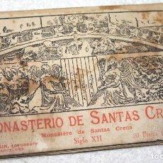 Postales: MONASTERIO DE SANTAS CREUS S.XII BLOC DE 20 POSTALES. Lote 88321332
