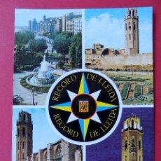 Postales: BONITA POSTAL LLEIDA, LERIDA - PLAZA DEL GOBIERNO CIVIL Y SEO ANTIGUA - ESCUDO DE ORO.... R-6217. Lote 88758424