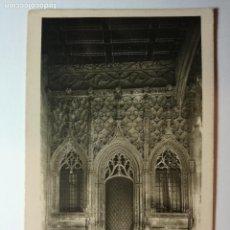 Postales: ANTIGUA POSTAL FOTOGRAFICA - BARCELONA DIPUTACION PROVINCIAL. PUERTA CAPILLA S JORGE - ROISIN - FOTO. Lote 89616620
