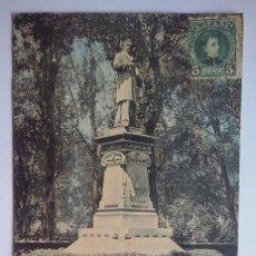 Postales: BARCELONA - MONUMENTO DE ARIBAU - RARA POSTAL - HAUSER Y MENET Nº 754 COLOREADA - CIRCULADA EN 1903. Lote 90455704