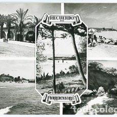 Cartes Postales: TARRAGONA TORREDEMBARRA DIVERSOS ASPECTOS DE LA PLAYA. FOTO RAYMOND Nº 30. CIRCULADA. Lote 91386115