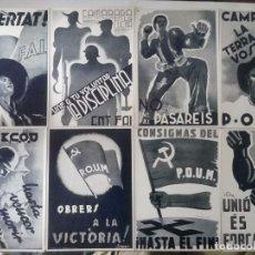 Postales: 20 POSTALES GUERRA CIVIL ESPAÑOLA COMISSARIAT CATALUNYA EDICIÓN 22 - POSTAL - COMISARIADO - CNT. Lote 91879600