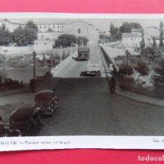 Postales: ANTIGUA POSTAL DE BALAGUER, PUENTE SOBRE EL SEGRE - FOTO CALAFELL - 1953... R-6563. Lote 92088005