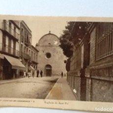 Postales: SANT JOAN DE LES ABADESSES 6 ESGLESIA DE SANT POL . CIRCULADA. Lote 92097400