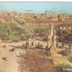 Cartes Postales: TERRASSA, MONUMENTO CAIDOS Y AVENIDA JACQUARD, OSCAR COLOR, CIRCULADA CON SU SELLO. Lote 93094280