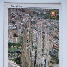 Postales: POSTAL BARCELONA - VISTA AEREA - - 1987 - ESCUDO DE ORO - PUBLICIDAD UNION NACIONAL. Lote 181540601