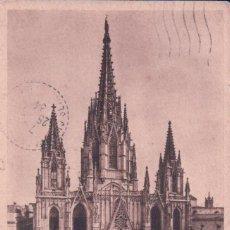 Postales: POSTAL BARCELONA 9 - LA CATEDRAL - ZERKOWITZ - CIRCULADA. Lote 93560610