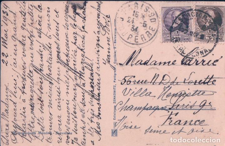 Postales: POSTAL BARCELONA 9 - LA CATEDRAL - ZERKOWITZ - CIRCULADA - Foto 2 - 93560610