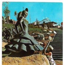 Postales: MONUMENTO CARMEN AMAYA BARCELONA. POSTAL AÑOS 70. Lote 103048512