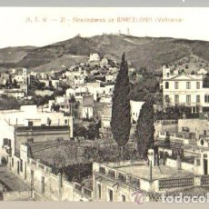 Postales: POSTAL ANTIGUA DE BARCELONA A.T.V. Nº 21 - VALLCARCA - ALREDEDORES DE BARCELONA. Lote 93618485