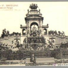 Postales: POSTAL ANTIGUA DE BARCELONA A.T.V. Nº 17 - CASCADA DEL PARQUE . Lote 93619005
