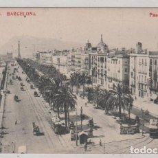 Postales: BARCELONA 36 PASEO DE COLÓN. FOTOTIPIA MADRIGUERA. SIN CIRCULAR.. Lote 94040740