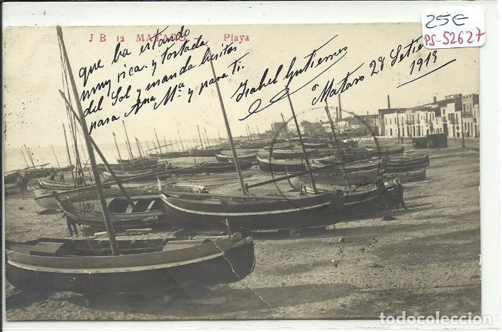 (PS-52627)POSTAL FOTOGRAFICA DE MATARO-PLAYA (Postales - España - Cataluña Antigua (hasta 1939))