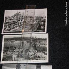 Postales: 3 POSTALES DE BERCELONA.PLAZA DE ESPAÑÁ(ROISIN),COLISEUM Y PARQUE MONTJUICH. Lote 94987563