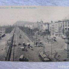 Postales: POSTAL BARCELONA - PASEO DE COLÓN - LEYENDA EN ESPERANTO - CONGRESO DE ESPERANTO DE BARCELONA 1909. Lote 95239415