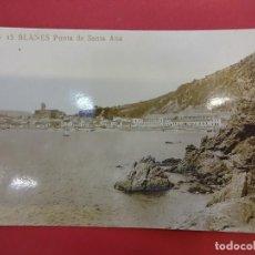 Postales: BLANES. PUNTA DE SANTA ANA. POSTAL FOTOGRÁFICA. Lote 95275123