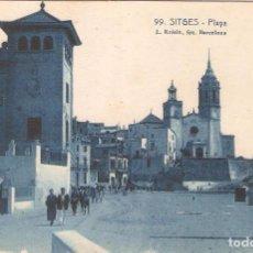 Postales: SITGES, PLAYA , L.ROISIN, SIN CIRCULAR. Lote 95307127