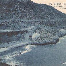 Postales: SITGES, COSTAS DE GARRAF, FERROCARRIL M.Z.A. , L.ROISIN, SIN CIRCULAR. Lote 95307243