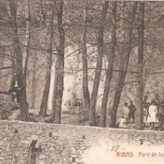 Postales: RIBAS, FONT DE LA FABRICA, CASTAÑEIRA Y ALVAREZ, SIN CIRCULAR. Lote 95307331