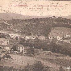 Postales: LLAVANERAS, LES MONTANYES ARRABAL AVALL, L.ROISIN, CIRCULADA CON SU SELLO . Lote 95307843