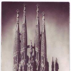 Postales: BARCELONA: TEMPLO SAGRADA FAMILIA. ZERKOWITZ. CIRCULADA (AÑOS 50). Lote 95473803