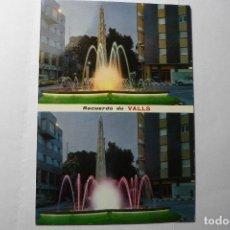 Postales: POSTAL VALLS .MONUMENTO XIQUETS DE VALLSY FUENTE LUMINOSA--ESCRITA. Lote 95934423
