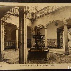 Postales: POSTAL BARCELONA ARCHIVO HISTORICO DE LA CIUDAD, PATIO.CENSURA GUBERNATIVA.L.ROISIN. Lote 95957195