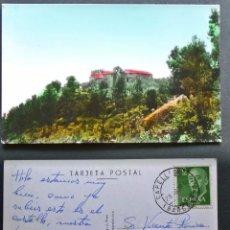 Postales: CAPELLADES (BARCLONA), CASTILLO DE CABRERA, POSTAL CIRCULADA DEL AÑO 1964. Lote 95957319