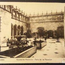 Postales: POSTAL BARCELONA DIPUTACION PROVINCIAL, PATIO DE LOS NARANJOS,CENSURA GUBERNATIVA.L.ROISIN. Lote 95957487