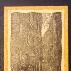 Postales: POSTAL BARCELONA CALLE PETRITXOL-AMANECER, Nº 5.XILOGRAFIA R.VIVES SABATE. Lote 95960811
