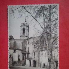 Postales: CABANES POSTAL FOTOGRÁFICA GERONA IGLESIA DE SAN VICENTE ALT EMPORDÀ 1958. Lote 96008471