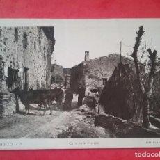 Postales: MOLLÓ POSTAL FOTOGRÁFICA CALLE DE LA FUENTE FOTO PLANESAS 1954. Lote 96009255