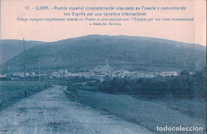 Postal Llivia 17 Pueblo Espanol Internado En Francia Y Comunicado Con Espana Roisin