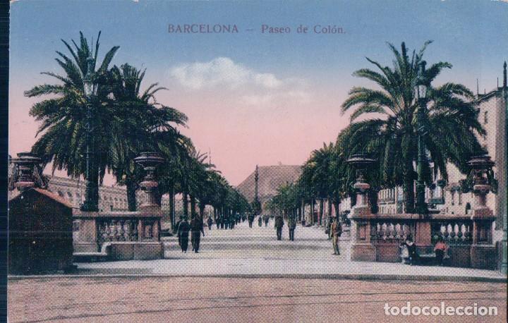 POSTAL BARCELONA - PASEO DE COLÓN - POSTAL - EDITOR E. PLANAS 576 (Postales - España - Cataluña Antigua (hasta 1939))