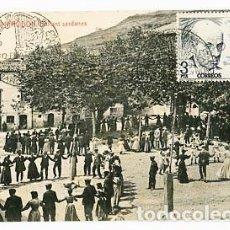 Postales: GIRONA CAMPRODON BALLANT SARDANES. FOTOTIPIA THOMAS. SIN CIRCULAR . MATASELLADA. Lote 96533799
