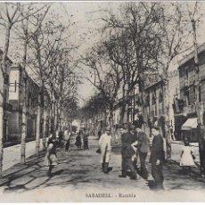 Postales: P- 7255. POSTAL SABADELL, RAMBLA. MN, PARIS.. Lote 96822719